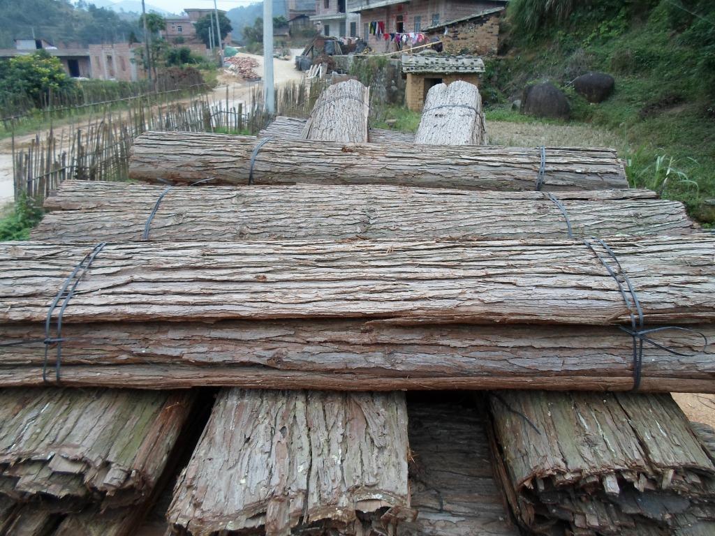 大量供应松树皮,杉木树皮,装饰树皮.