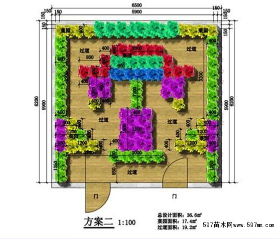 菜园手绘平面图