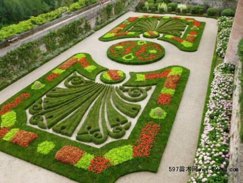 绿篱的平面图手绘